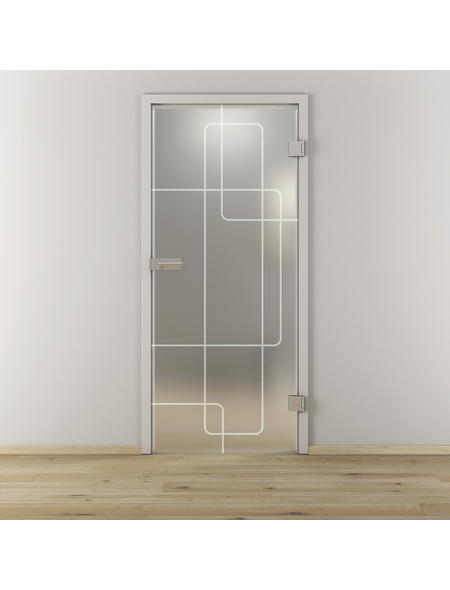 NOVADOORS Glasdrehtür »NOVA 553«, Anschlag: rechts, Höhe: 197,2 cm