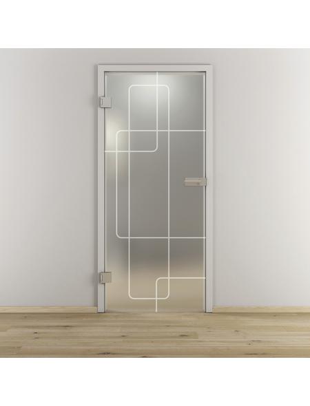 NOVADOORS Glasdrehtür »NOVA 553«, mattiert, Höhe: 197,2  cm