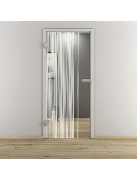 NOVADOORS Glasdrehtür »NOVA 584«, Anschlag: links, Höhe: 197,2 cm