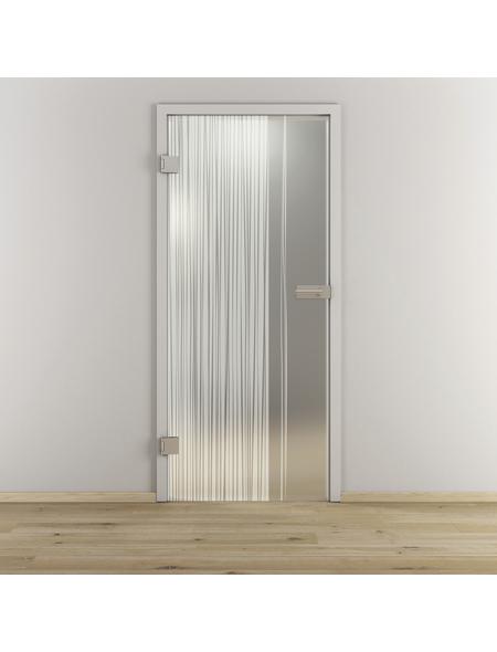 NOVADOORS Glasdrehtür »NOVA 584«, mattiert, Höhe: 197,2  cm