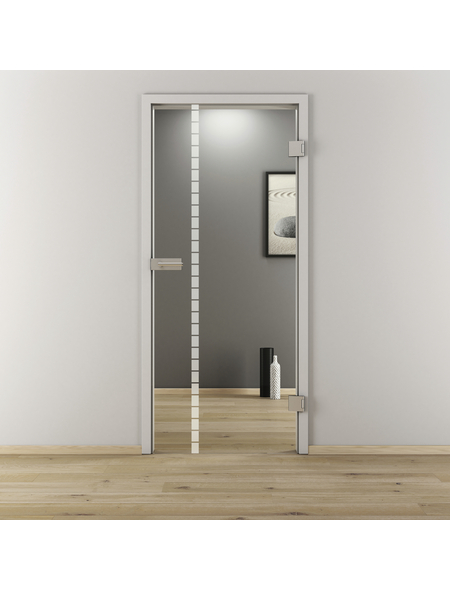 NOVADOORS Glasdrehtür »NOVA 598«, (BxH): 83,4 x : 197,2 cm