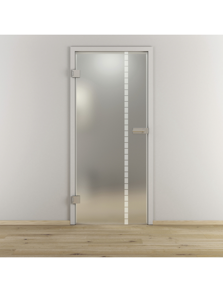 NOVADOORS Glasdrehtür »NOVA 598«, mattiert, Höhe: 197,2  cm