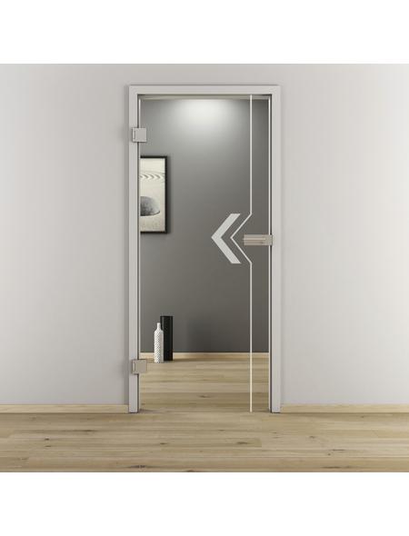 NOVADOORS Glasdrehtür »NOVA 599«, Anschlag: links, Höhe: 197,2 cm