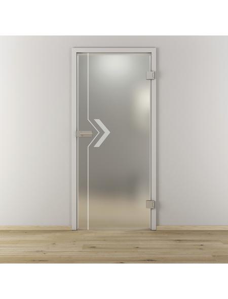 NOVADOORS Glasdrehtür »NOVA 599«, mattiert, Höhe: 197,2  cm