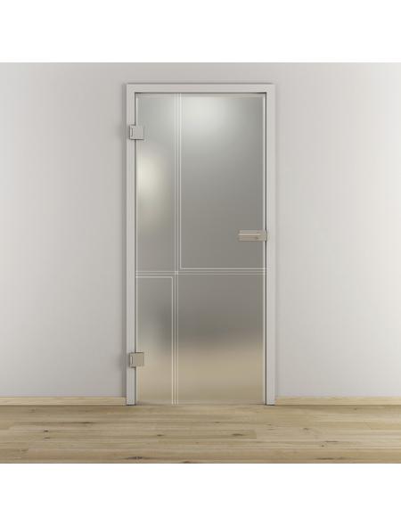 NOVADOORS Glasdrehtür »NOVA 610«, Anschlag: links, Höhe: 197,2 cm
