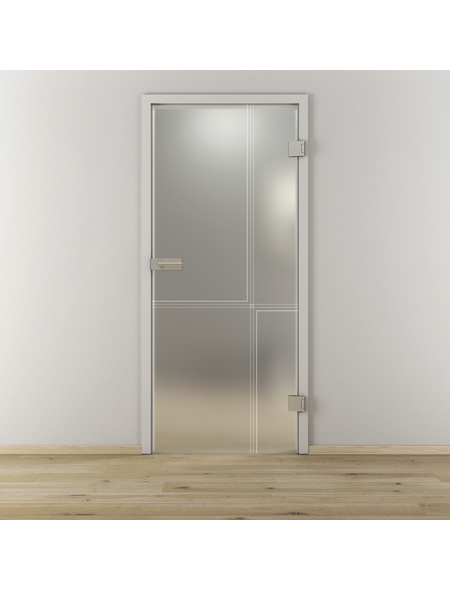 NOVADOORS Glasdrehtür »NOVA 610«, Anschlag: rechts, Höhe: 197,2 cm