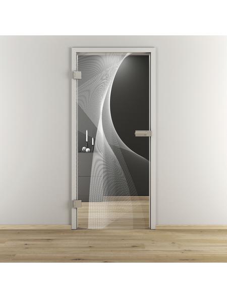 NOVADOORS Glasdrehtür »NOVA 634«, Anschlag: links, Höhe: 197,2 cm