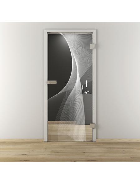 NOVADOORS Glasdrehtür »NOVA 634«, (BxH): 95,9 x : 197,2 cm