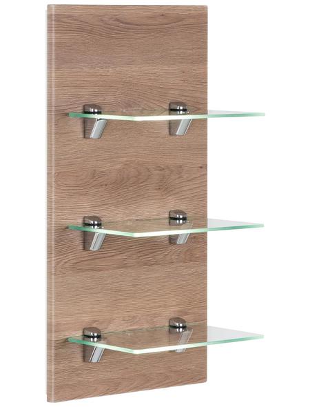 POSSEIK Glasregal »VIVA«, BxH: 35 x 68 cm, MDF