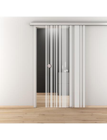 NOVADOORS Glasschiebetür »NOVA 512«, mattiert, Höhe: 205,8  cm