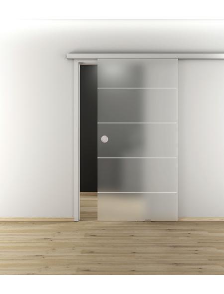 NOVADOORS Glasschiebetür »NOVA 582«, mattiert, Höhe: 205,8  cm