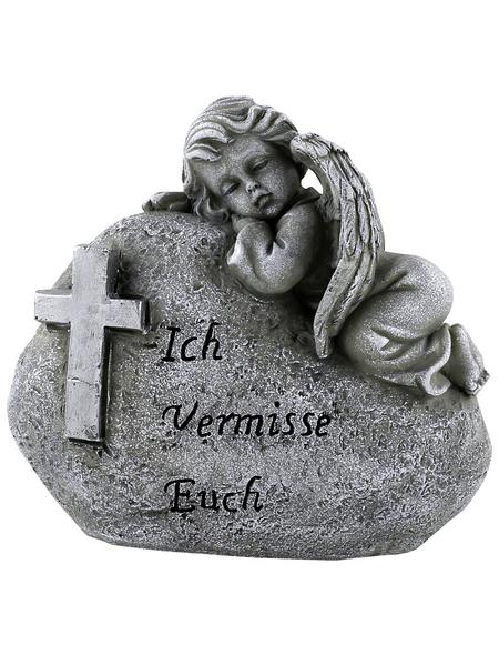 Goldbach Grabschmuck, BxH: 7 x 13 cm, Polyresin, steingrau