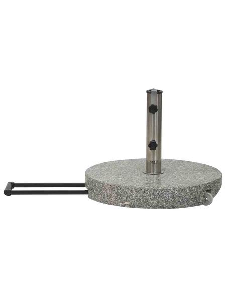 SIENA GARDEN Granitständer, grau, geeignet für Rohrdurchmesser 25-48 mm