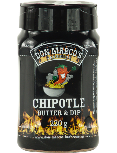 Don Marco´s Barbecue Grillgewürz, Chipotle Butter + Dip, 220 g