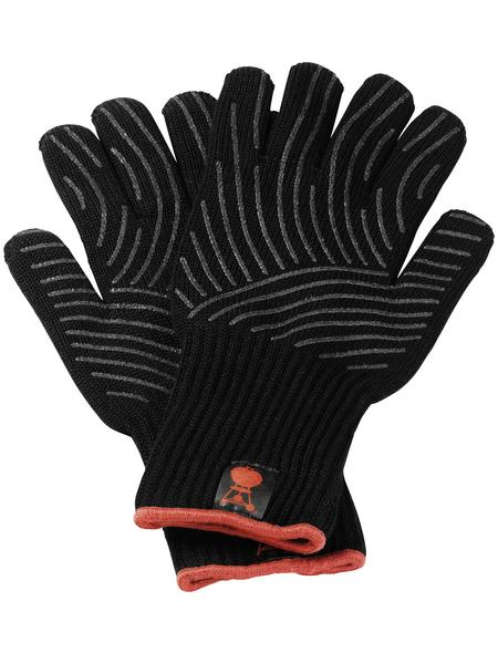 WEBER Grillhandschuh, Baumwolle/Polyester, schwarz, bis 250°C