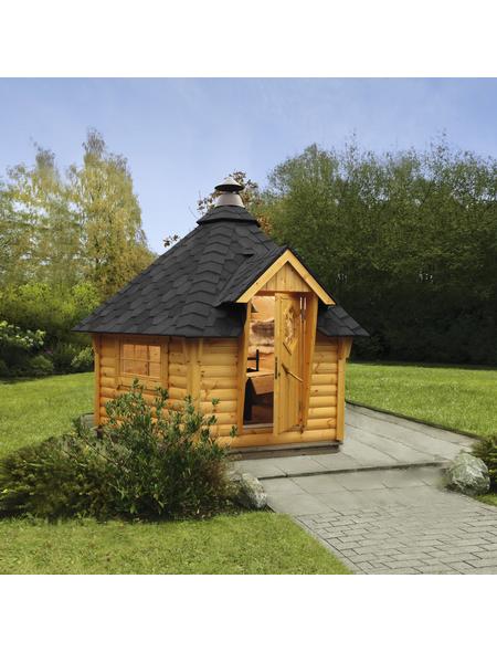 WOLFF Grillkota »de luxe«, B x T x H: 376  x 326  x 364  cm, Holz