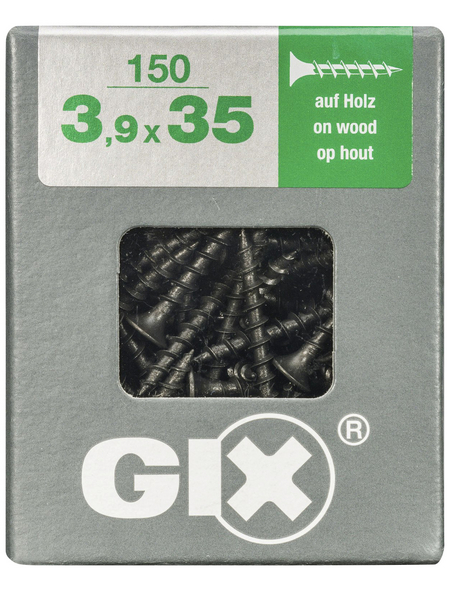 SPAX Grobgewindeschraube, 3,9 mm, Stahl, 150 Stk., GIX B 3,9x35 L