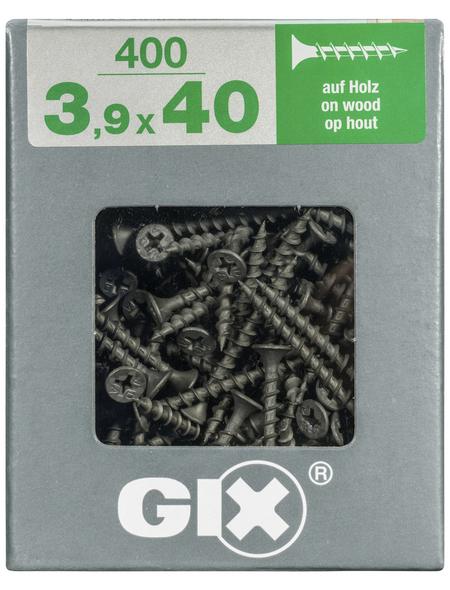 SPAX Grobgewindeschraube, 3,9 mm, Stahl, 400 Stk., GIX B 3,9x40 XL