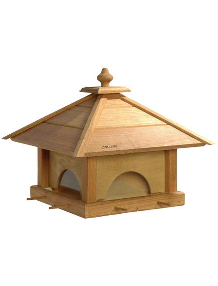 DOBAR Großes Vogelfutterhaus 4 Schubladen
