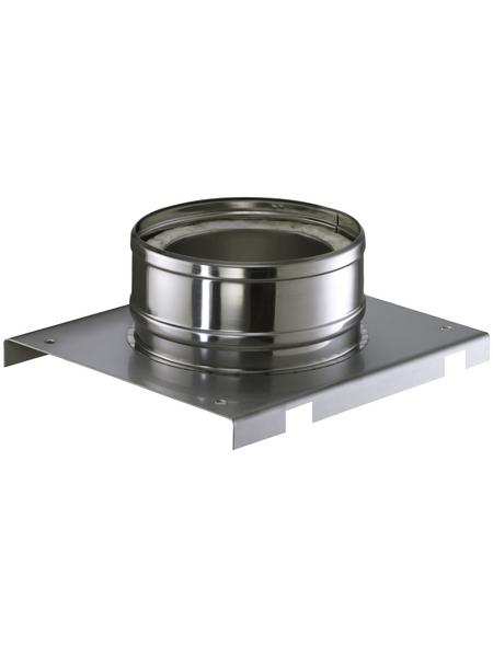 ZICKWOLFF Grundplatte für Wandmontage, ØxL: 15 x 34 cm, Stärke: 25 mm, Edelstahl