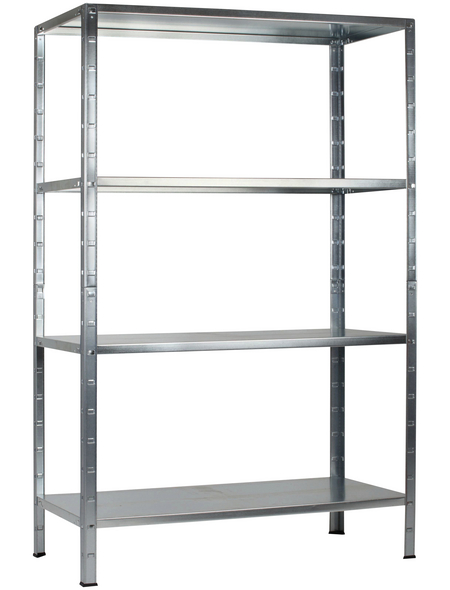 SCHULTE REGALWELT Grundregal, HxBxT 180 x 75 x 35 cm, 200 kg Traglast (max.), 4 Böden