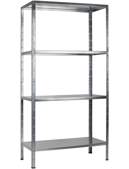 SCHULTE REGALWELT Grundregal, HxBxT 180 x 80 x 40 cm, 260 kg Traglast (max.), 4 Böden