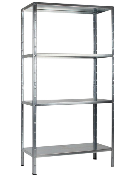 SCHULTE REGALWELT Grundregal, HxBxT 180 x 90 x 40 cm, 260 kg Traglast (max.), 4 Böden