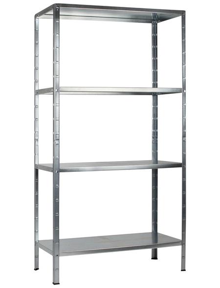 SCHULTE REGALWELT Grundregal, HxBxT 190 x 100 x 40 cm, 260 kg Traglast (max.), 4 Böden