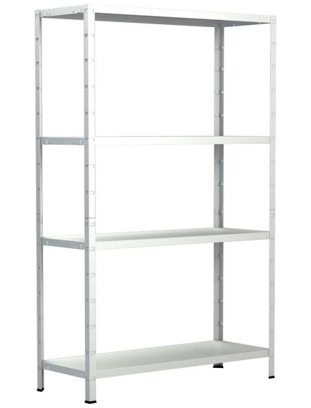 SCHULTE REGALWELT Grundregal, HxBxT 200 x 100 x 50 cm, 280 kg Traglast (max.), 4 Böden