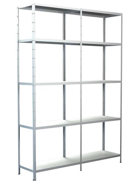SCHULTE REGALWELT Grundregal mit Anbauregal, HxBxT 200 x 140 x 50 cm, 425 kg Traglast (max.), 10 Böden