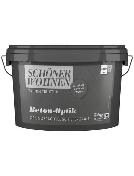 SCHÖNER WOHNEN FARBE Grundspachtel »Trendstruktur«, schiefer, 5 l, 2 m²/kg