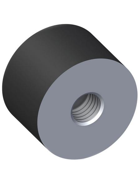 alfer® aluminium Gummipuffer, M8, Schwarz, Gummi