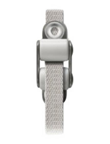 SCHELLENBERG Gurtführung, weiss/silberfarben, geeignet für: Gurtbänder mit einer Breite von 14 mm (System MINI)
