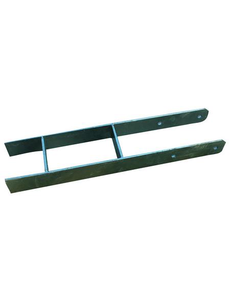 KARIBU H-Pfostenanker, B x H: 12 x 12 cm, grau