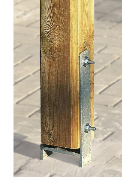 WEKA H-Pfostenanker-Set, für Pfosten mit 12x12 cm, 12 Stück