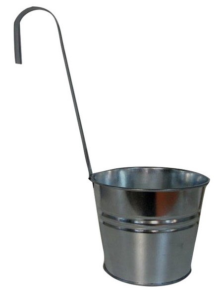 A.H.G. Hängeeimer, Zink, silber-Metallic, rund