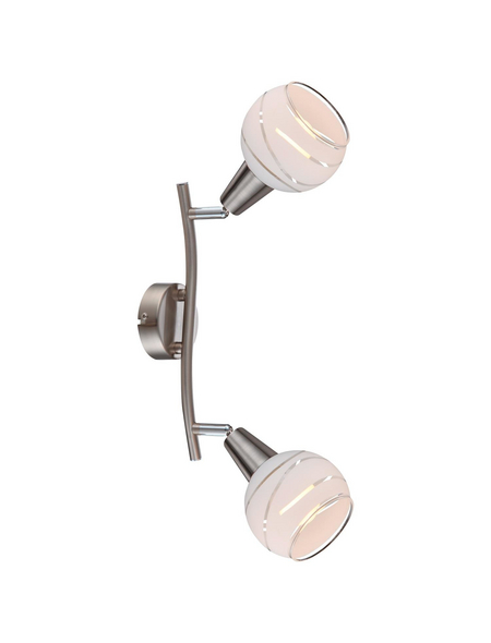 Hängeleuchte »ELLIOTT« nickelfarben 5 W, 2-flammig, E14, inkl. Leuchtmittel