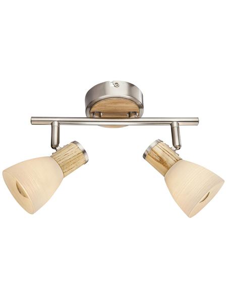 Hängeleuchte »GYLFI« nickelfarben 40 W, 2-flammig, E14, inkl. Leuchtmittel