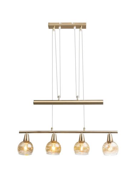 Hängeleuchte »LARA« goldfarben 4 W, 4-flammig, E14, inkl. Leuchtmittel