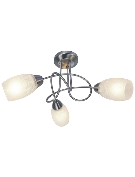 Hängeleuchte »MITIS« nickelfarben 40 W, 3-flammig, E14, inkl. Leuchtmittel