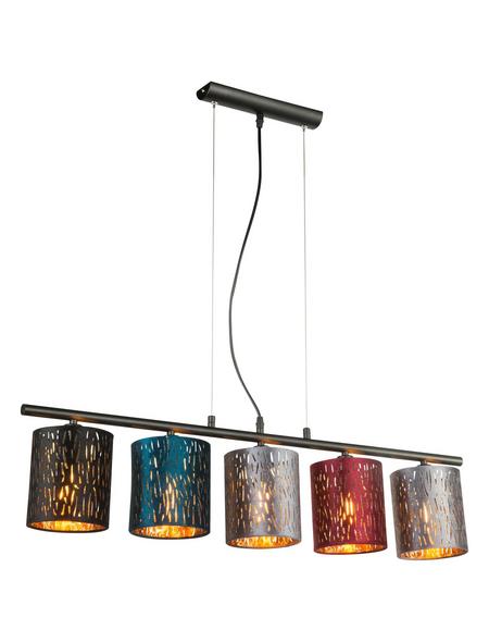 Hängeleuchte »TICON« schwarz 25 W, 5-flammig, E14, inkl. Leuchtmittel