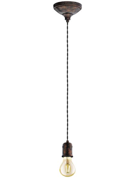 EGLO Hängeleuchte »YORTH« schwarz/kupferfarben 60 W, 1-flammig, E27, ohne Leuchtmittel
