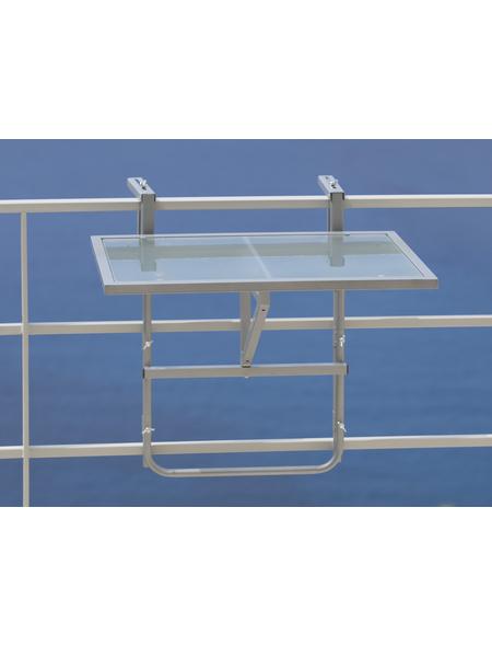 Hängetisch, BxHxL: 40 x 64,5 x 60 cm, Tischplatte: Sicherheitsglas