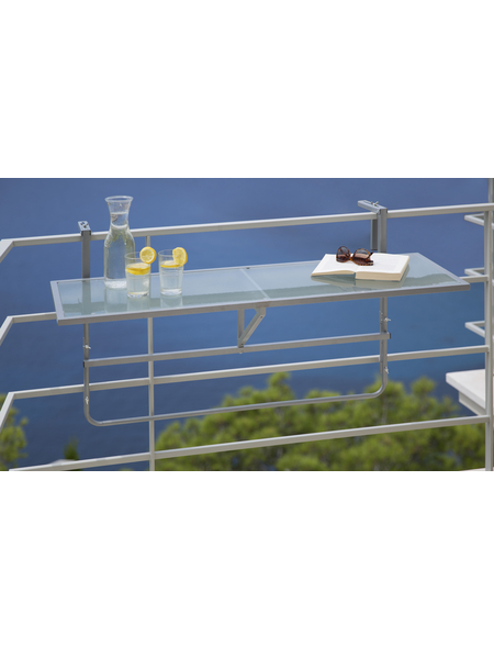 Hängetisch, mit Sicherheitsglas-Tischplatte, BxTxH: 40 x 120 x 73,5 cm