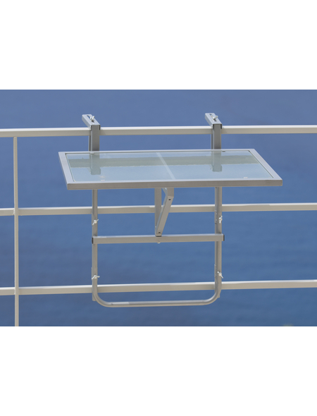 Hängetisch, mit Sicherheitsglas-Tischplatte, BxTxH: 40 x 60 x 64,5 cm