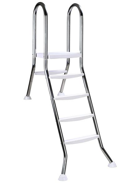 SUMMER FUN Halbhochbeckenleiter, Stahl, geeignet für: Beckenhöhe 120 cm