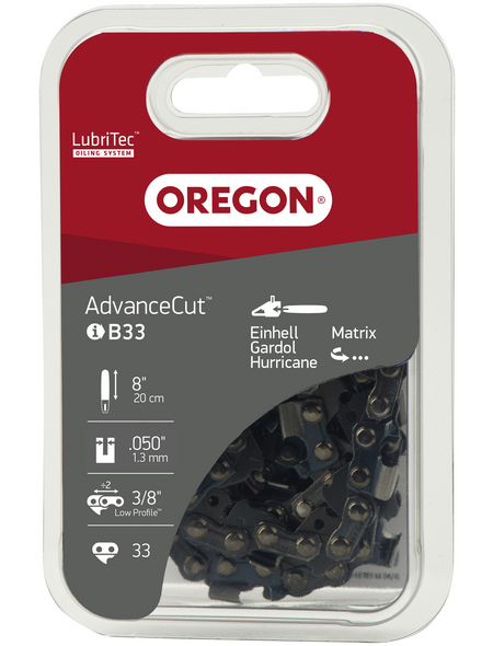 OREGON® Halbmeißelzahn-Ersatzkette, 33 TG, 200 mm
