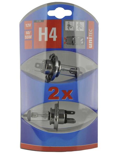 UNITEC Halogenlampe, H4, 60/55 W