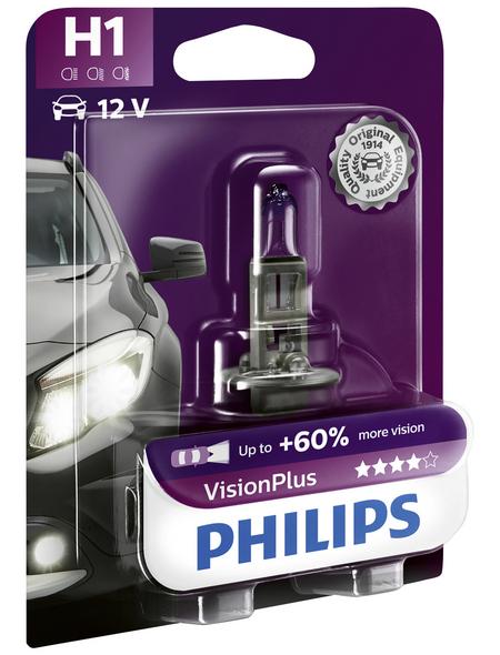 PHILIPS Halogenlampe »VisionPlus«, H1, 55 W