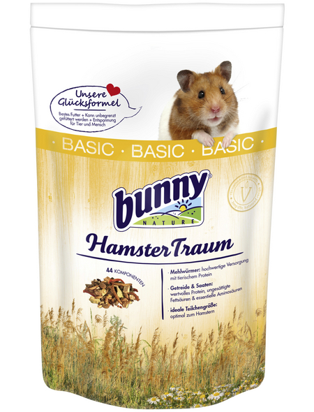 BUNNYNATURE Hamsterfutter »HamsterTraum Basic«, für Hamster
